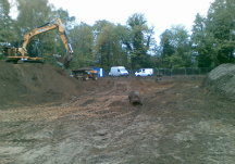 Digger on site